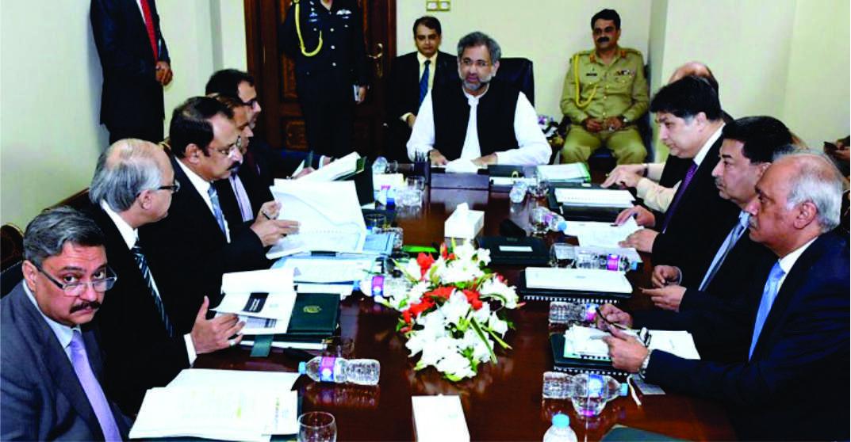 وزیراعظم شاہد خاقان عباسی کی زیر صدارت توانائی سے متعلق کابینہ کمیٹی کا اجلاس