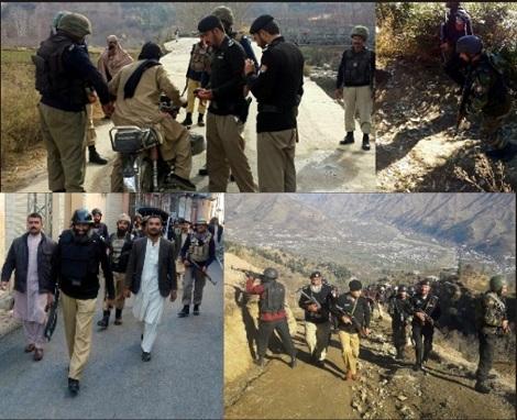 سوات میں پولیس کادشوار گزار پہاڑیوں میں گرینڈاپریشن،972 گرفتار