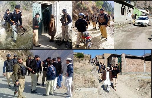پولیس کا دشوار گزار پہاڑیوں میں اپریشن جاری ،اسلحہ منشیات برامد، ملزمان گرفتار