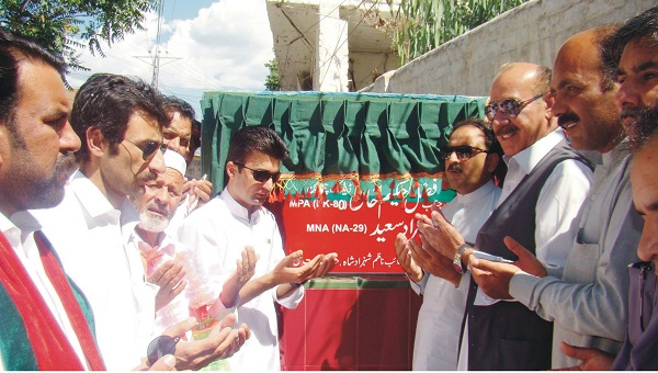 Fazal Hakeem and Murad saeed open the gulkada road