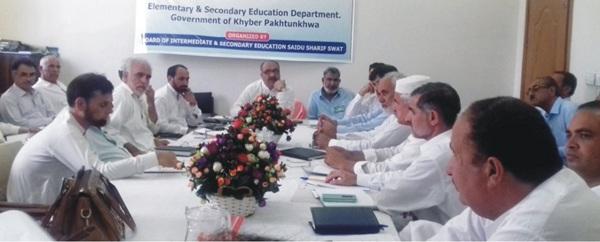 Education Officers of swat  bunir and Shangla meeting in swat board