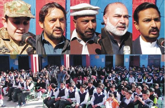 سانحہ اے پی ایس، سوات کے نجی تعلیمی ادارے میں پروقار تقریب