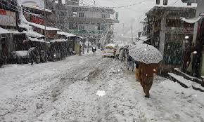 سوات میں بارش اور برف باری کا نیا سلسلہ شروع، سردی کی شدت میں اضافہ