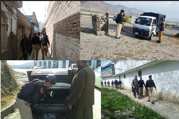 پولیس کا ضلع بھر میں اپریشن شروع،اسلحہ برامد، 400 مشتبہ افراد گرفتار