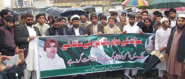 پاکستان زندہ باد ریلی ، پریس کلب کے سامنے مظاہرہ