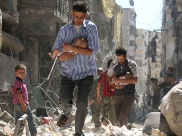 شام میں ایک اور حملہ ۔ شامی فوج کا غوطہ میں کیمیکل بم حملہ، 100 افراد جاں بحق اور ایک ہزار زخمی