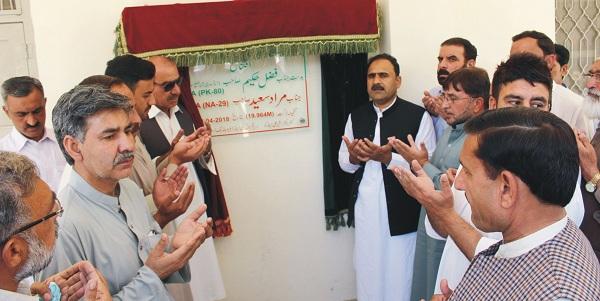 ہائیر سیکنڈری سکول ودودیہ کا افتتاح پی ٹی ائی کے فضل حکیم نے کردیا