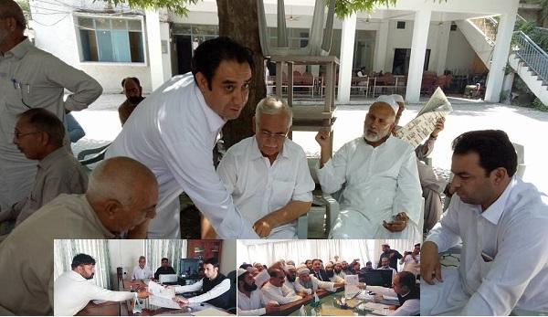 عمر فاروق، سلیم الرحمان، عرفان چٹان، اور مولانا حجت اللہ نے اخری روز کاغذات جمع کرادیئے