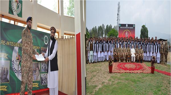 سوات میں پاک فوج نے تربیت کے بعد 53 افراد کو رہا کردیا