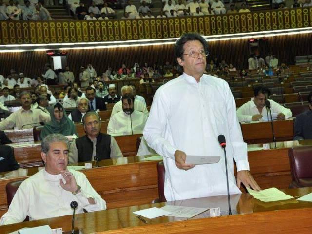 بھارت باز نہ ایا تو روائتی جنگ کرینگے، عمران خان نے قومی اسمبلی میں دھماکہ خیز اعلان کردیا