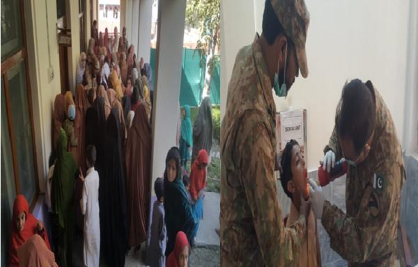 میادم میں پاک فوج کے زیرِ اہتمام ایک روزہ مفت طبی کیمپ کا انعقاد