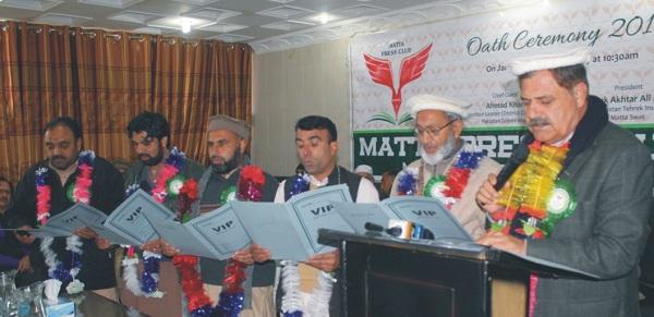 مٹہ پریس کلب اور یونین کی تقریب حلف برداری، صحافی ملکی ترقی میں کردار ادا کریں، احمد خان