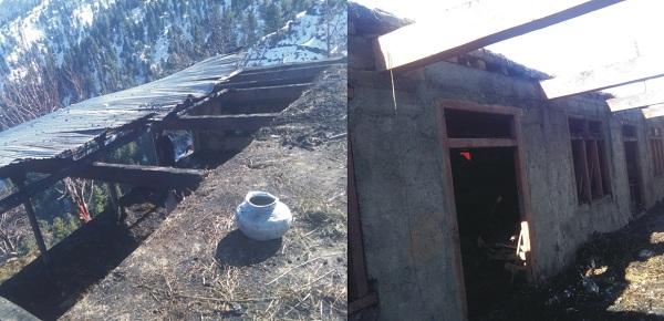 شور تالکار میں اگ نے تین کمروں پر مشتمل گھر راکھ بنا دیا