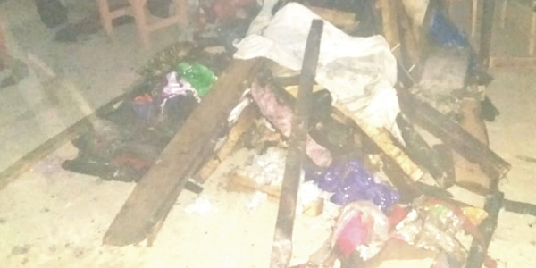 گاوں بیدرہ بر پلو میں نامعلوم افراد نے دوکان کو اگ لگا دی ، لاکھوں کانقصان