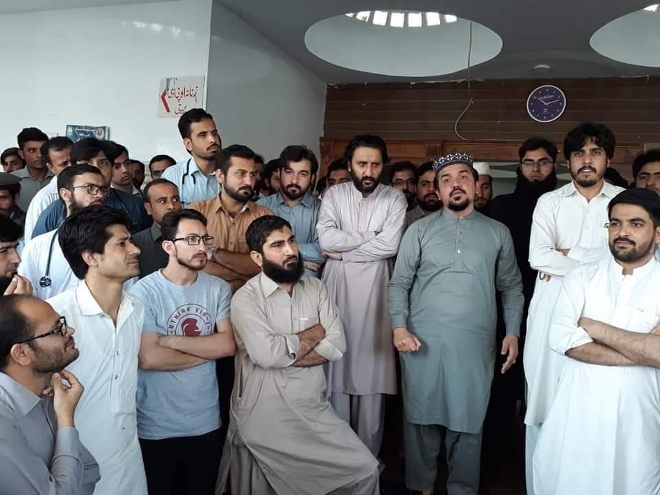 سوات میں ڈاکٹروں کا احتجاج ، سیدو روڈ بند، مریضوں کو مشکلات
