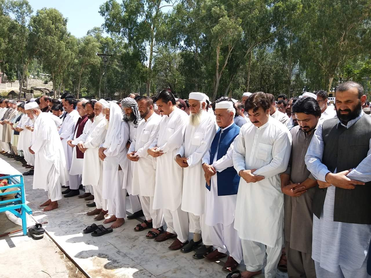 صوبائی وزیر اطلاعات کی والدہ کی نماز جنازہ ادا