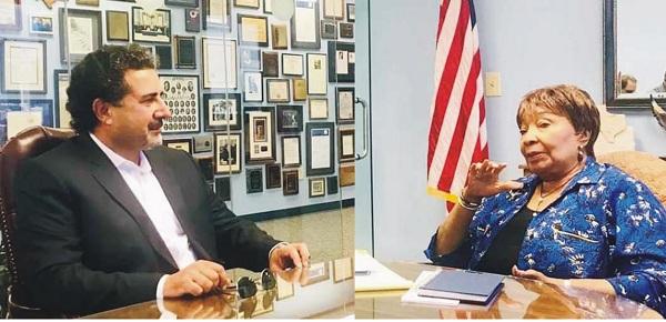 ایم این اے ڈاکٹر حیدر کا امریکہ میں کانگریس خاتون رہنما سے ملاقات، کشمیر مسئلہ پر بحث