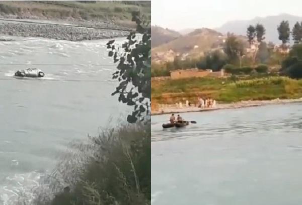 مدین ، دریا سوات میں گرنے والے موٹر کار سے دو افراد کی لاشیں نکال لی گئی