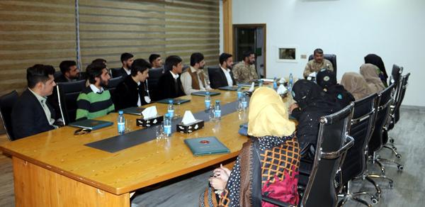 جی او سی مالاکنڈ کا مختلف کالجوں کے طالب علموں کیساتھ ملاقات