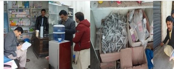 سوات اور شانگلہ میں عطائیت کے خلاف ہیلتھ کیئر کمیشن کی  کامیاب کاروائیاں