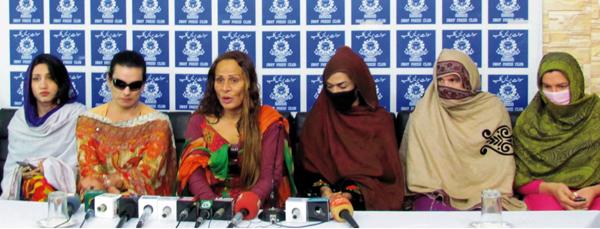 سوات،خواجہ سراؤں کا احتجاجی مظاہرہ،ساتھی خواجہ سراؤں کی رہائی کا مطالبہ
