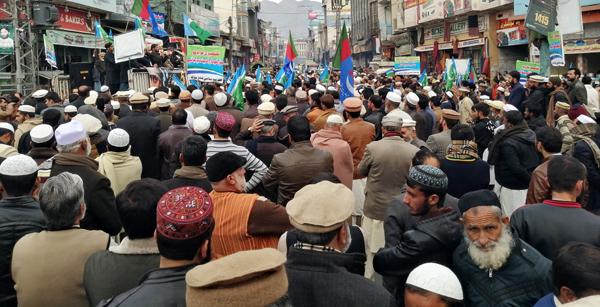 جماعت اسلامی کے زیراہتمام کشمیر مارچ کا انعقاد