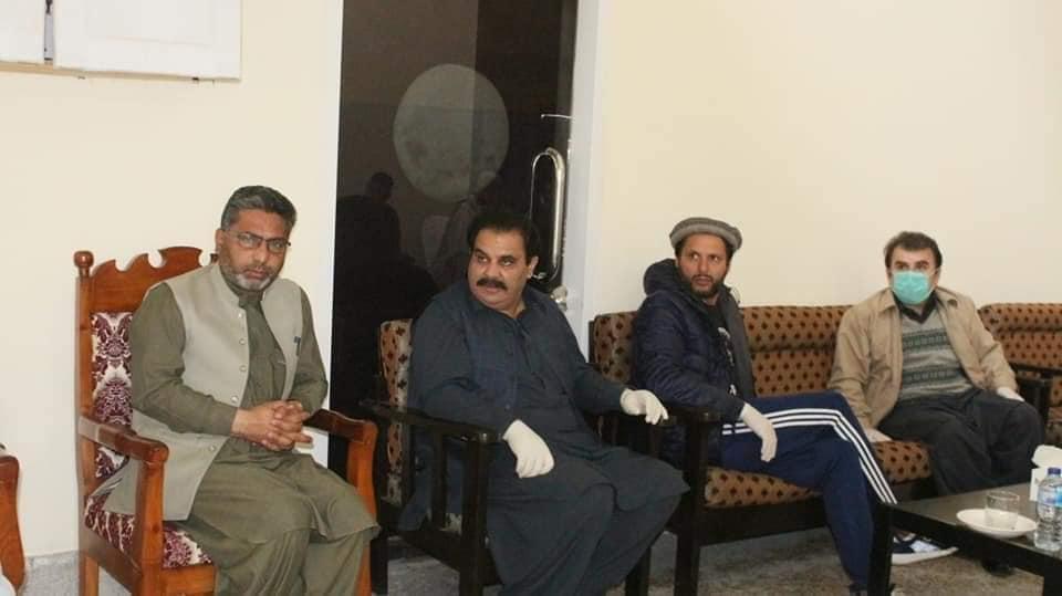 پاکستانی کرکٹ سٹار شاہد خان آفرید ی کا مختصر دورہ سوات