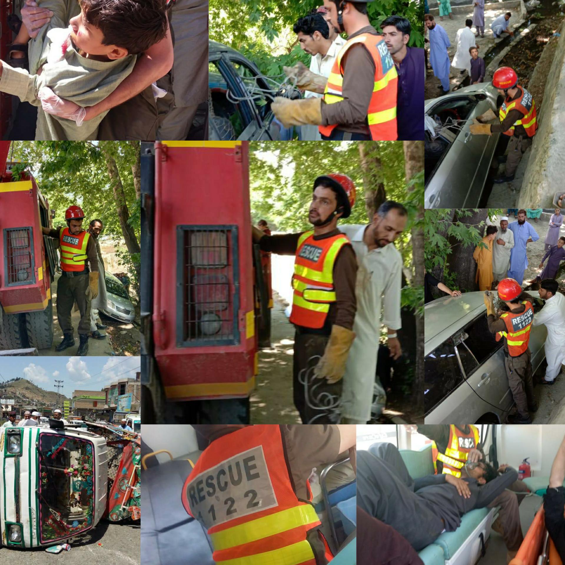سوات بھر میں حادثات ، متعدد افراد زخمی