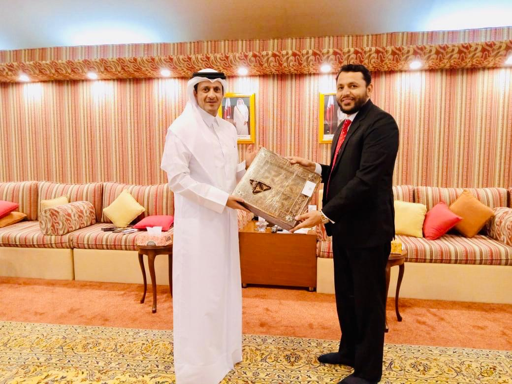 سردار وقار شہزاد ایڈوکیٹ اور قطر کے سفیر کی ملاقات