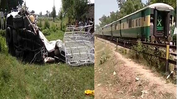شیخوپورہ، ٹرین اور مسافر وین میں تصادم،19 جاں بحق