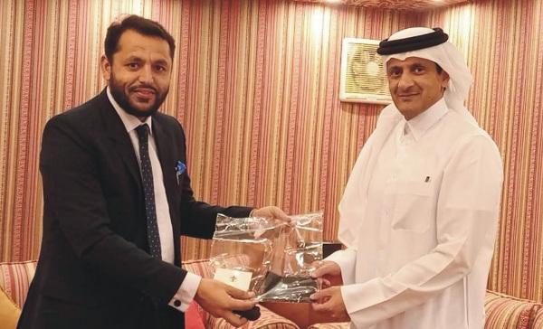 پاکستان بوائے سکاؤٹس کے نیشنل کمشنر سردار وقار شہزاد ایڈوکیٹ کی قطر کے سفیرسے ملاقات