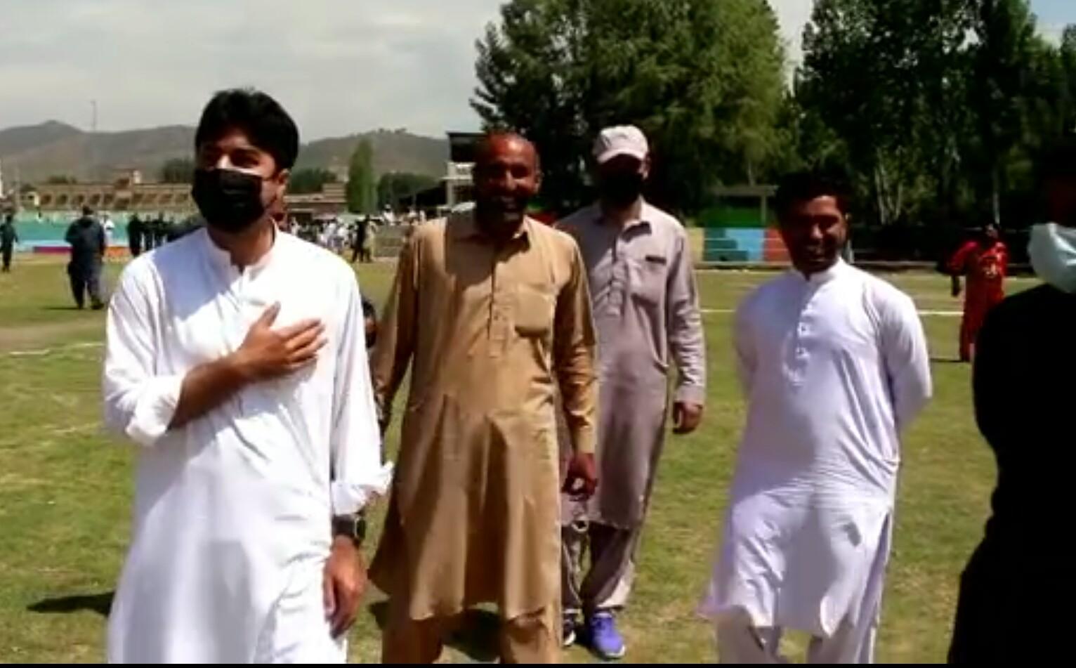 وفاقی وزیرمرادسعیدکاکبل گراونڈ میں باسکٹ بال کورٹ کا افتتاح