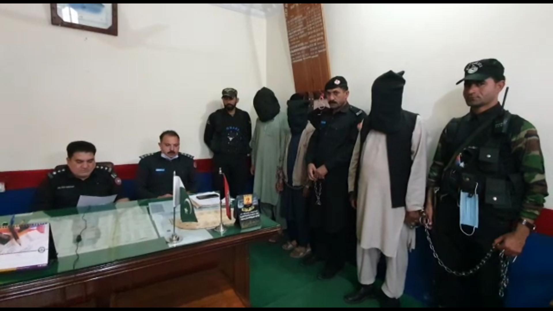 سوات، مٹہ میں چار دہشتگردوں کوگرفتارکرلیا
