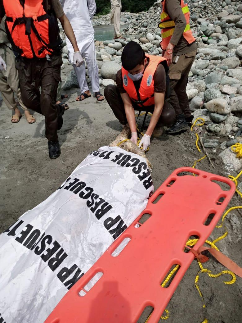سوات، دریاء سوات سے نامعلوم شخص کی لاش برامد