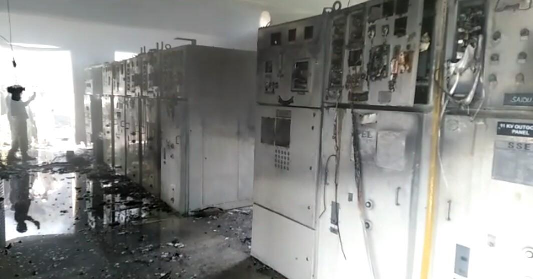 سوات، گریڈ سٹیشن میں اگ لگنے سے پانچ فیڈر متاثر