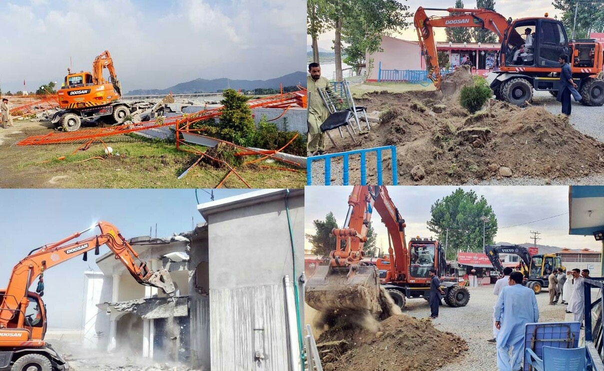 سوات،سرکاری زمینیوں پر غیر قانونی قبضے چھڑانے کیلئے ضلعی انتظامیہ ، پولیس ، محکمہ آبپاشی اور دیگر محکموں کی ٹیمیں سرگرم