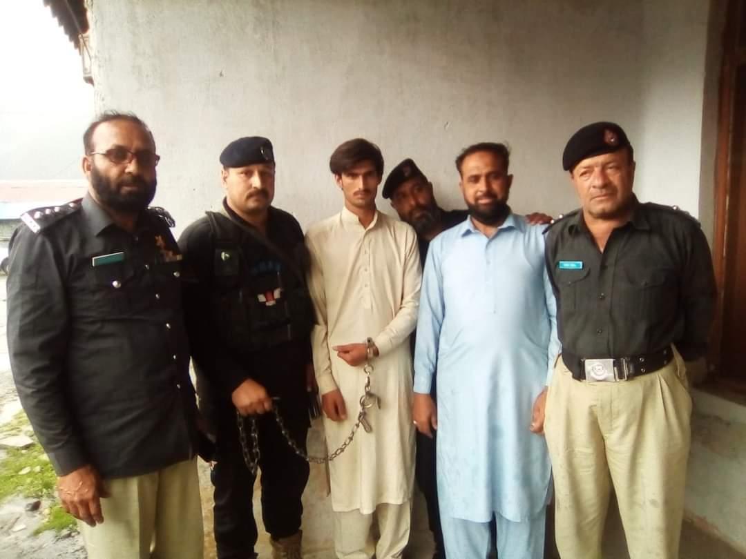 کالام مٹلتان میں سیاح کو قتل کرنے والا شخص گرفتار