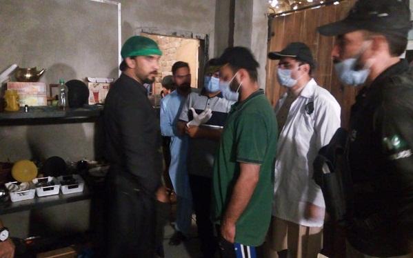 سوات میں عوام کو معیاری اور صاف خوراک کی فراہمی کیلیے رات کو بھی کاروائیاں